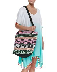 Seafolly - Tribal-print Rope-strap Tote Bag - Lyst