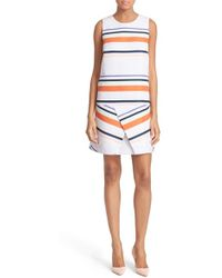 Ted Baker | 'damica' Stripe A-line Dress | Lyst
