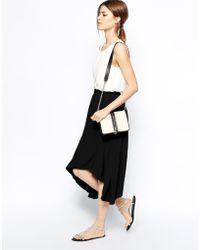 Asos Midi Skirt with Hanky Hem - Lyst