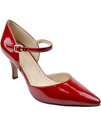 Adrienne Vittadini Jon Suede Ankle-Strap Pumps red - Lyst