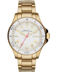 Marc By Marc Jacobs Dizz Sport Goldtone Stainless Steel Bracelet Watch gold - Lyst