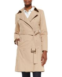 Eileen Fisher Fisher Project Double-Breasted Belted Coat - Lyst