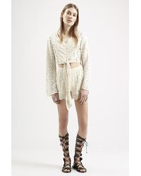 Topshop Lace Panel Shorts By Band Of Gypsies - Lyst