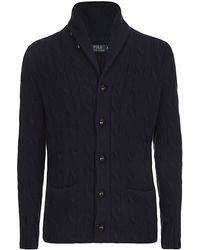 Polo Ralph Lauren Cable Shawl Cardigan - Lyst
