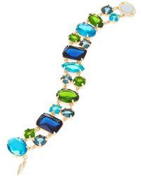 ABS By Allen Schwartz - Multicolor Stone Link Bracelet - Lyst