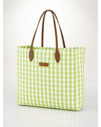 Ralph Lauren Golf Gingham Tote - Lyst