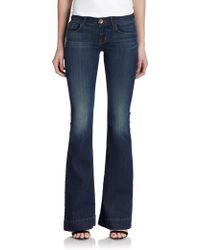J Brand Love Story Low-Rise Flared Jeans - Lyst
