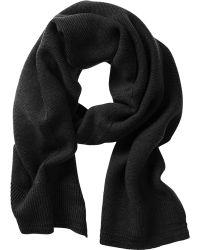 Banana Republic Extra Fine Merino Wool Scarf - Black - Lyst