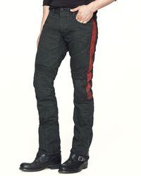 Ralph Lauren Black Label Pieced Biker Jean  Slim Fit - Lyst