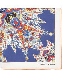 Turnbull & Asser Russian Paisly Pocket Square Handkerchief - Lyst