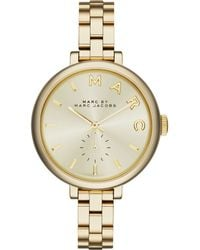 Marc By Marc Jacobs Women'S Sally Gold Ion-Plated Stainless Steel Bracelet Watch 36Mm Mbm3363 - Lyst