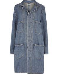 6397 - Blue Denim Coat - Lyst