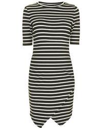 Topshop Maternity Stripe Asymmetric Bodycon Dress - Lyst