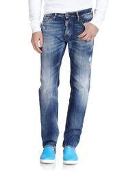 DSquared² Dean Straight-Leg Jeans blue - Lyst