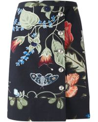 Gucci 'Flora Knight' Skirt floral - Lyst