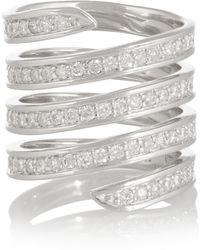 Lynn Ban - Coil Tip Sterling Silver Diamond Ring - Lyst