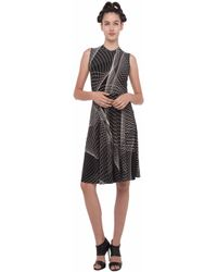 Norma Kamali Sleeveless Flaired Dress gray - Lyst