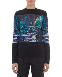 Balenciaga Landscapeprint Pullover Sweater - Lyst