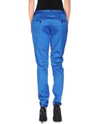 John Galliano Casual Trouser blue - Lyst
