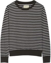 Current/Elliott The Shrunken Jogger Striped Cotton Sweatshirt - Lyst