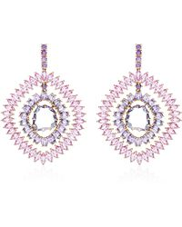 Shawn Ames - Rainbow Earrings with Spinel Oval Purple Sapphires and Marquis Pink Sapphires - Lyst