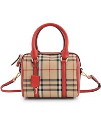 Burberry Sm Alchester Horseferry Check Bag - Lyst