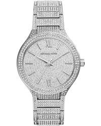 Michael Kors Ladies Kerry Stainless Steel Glitz Watch - Lyst