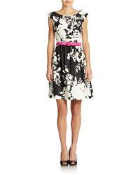 Eliza J Floral Fit And Flare Dress - Lyst