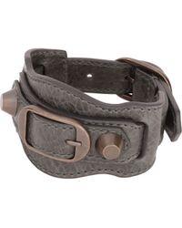 Balenciaga Gray Classic Bracelet - Lyst