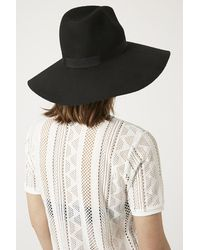 Topshop High Crown Fedora Hat - Lyst