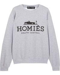 Brian Lichtenberg - Homiãs Cotton-blend Jersey Sweatshirt - Lyst