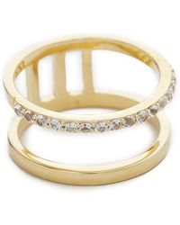 Elizabeth And James Dylan Band Ring - Gold/Clear - Lyst