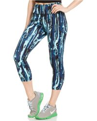 Betsey Johnson Printed Cropped Leggings - Lyst