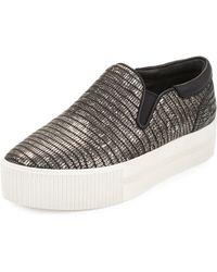 Ash Karma Embossed Slip-on Sneaker - Black