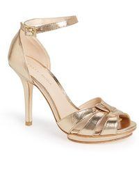 Pelle Moda 'Ritter' Ankle Strap Sandal - Lyst