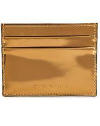 Marni Metallic-Leather Card Holder - Lyst