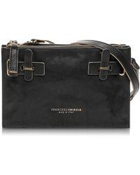 Francesco Biasia - Hampstead Onyx Leather Crossbody Bag - Lyst