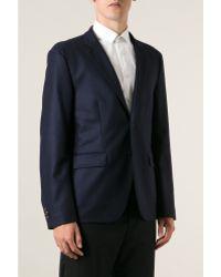 Mr Start Cheshire Navy Wool Flannel Jacket - Lyst