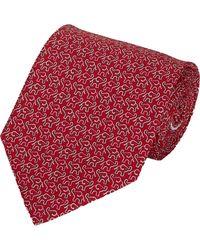 Ferragamo Elephant-Print Neck Tie - Lyst