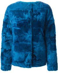 Liska Panelled Lamb Fur Coat - Lyst