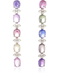 Gioia - Multicolour Sapphire Cabochon Drop Earrings - Lyst