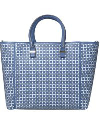 Victoria Beckham Blue Liberty Laser Cut Bag