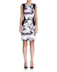 Prabal Gurung Printed Sleeveless Sheath Dress - Lyst