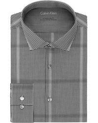Calvin Klein Slim-Fit Checkered Dress Shirt - Lyst
