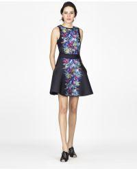 Cynthia Rowley Bonded A-Line Skirt floral - Lyst