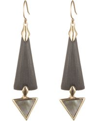 Alexis Bittar Elongated Dangling Earring With Mother Of Pearl black - Lyst