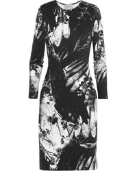 Preen Iris Printed Stretchjersey Mini Dress - Lyst