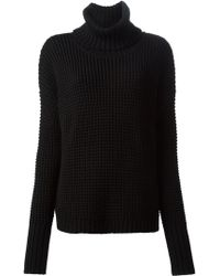 Ann Demeulemeester Chunky Knit Turtle Neck Sweater - Lyst