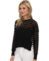French Connection Alpha Stripe Sweater 78Dbw - Lyst