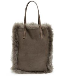Pedro Garcia - 'north South' Genuine Lambskin Shearling Tote - Lyst